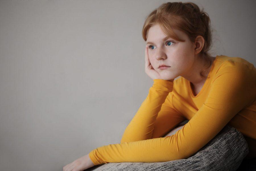 sad beautiful teen girl portrait